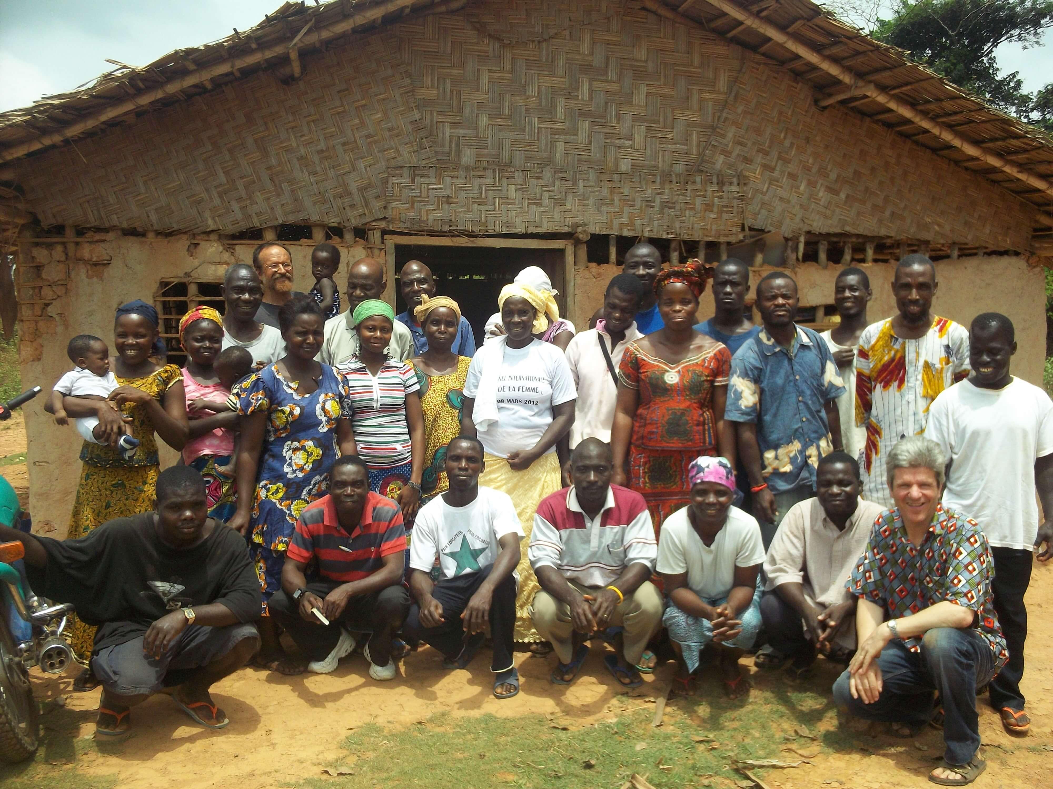 Une des églises ivoiriennes du camp de réfugiés