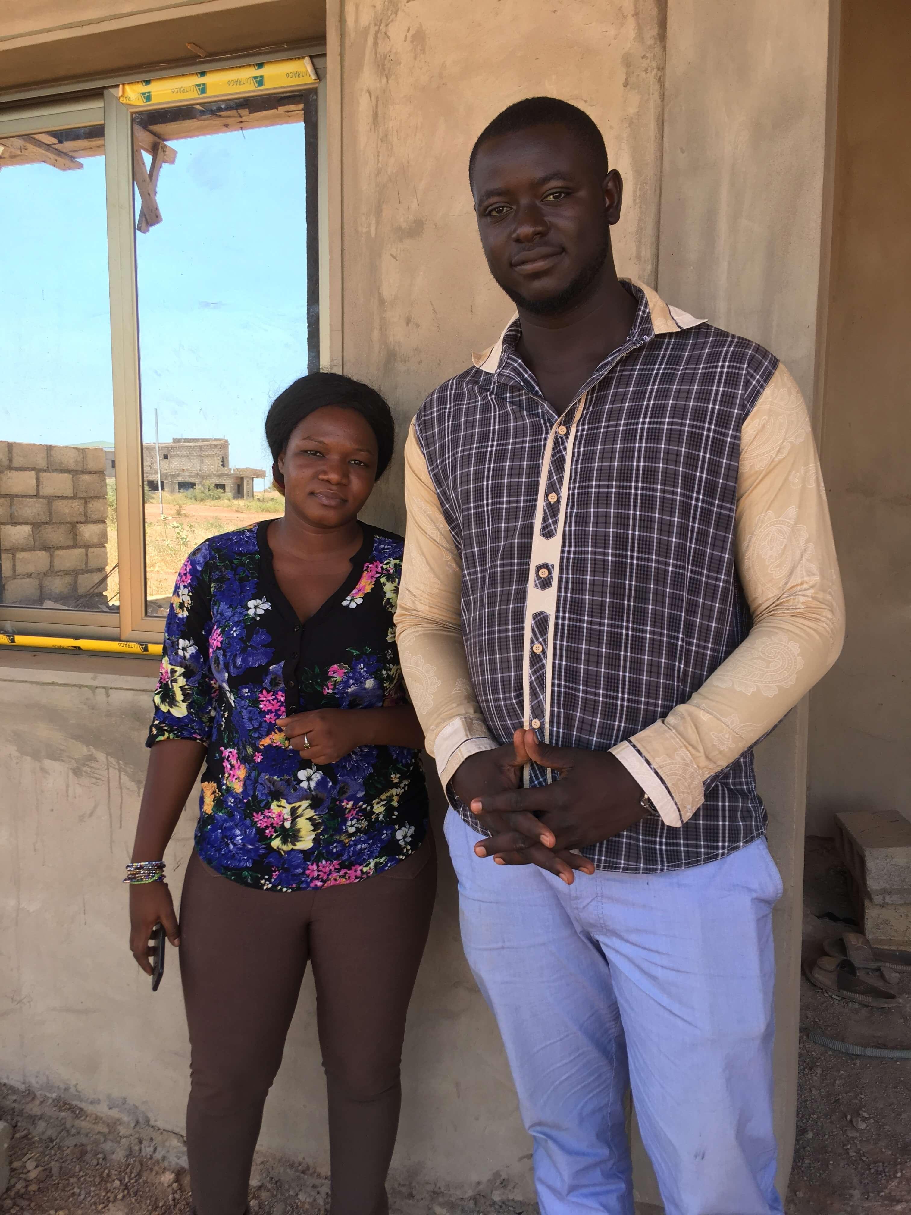 Sandrine avec son fiancé Rachid