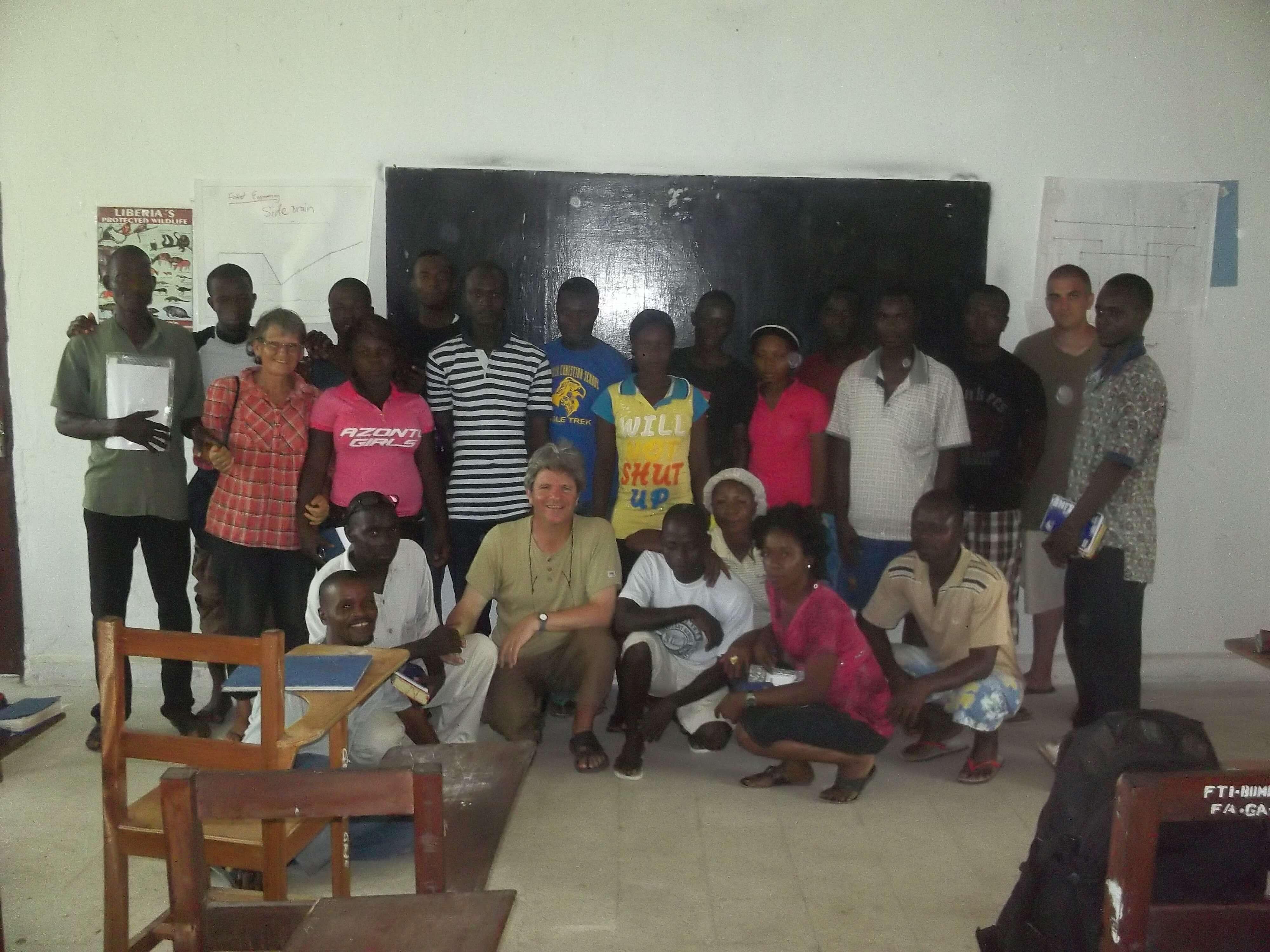 Nous avons fait aussi une réunion dans un centre de formation agricole dans cette même région où un