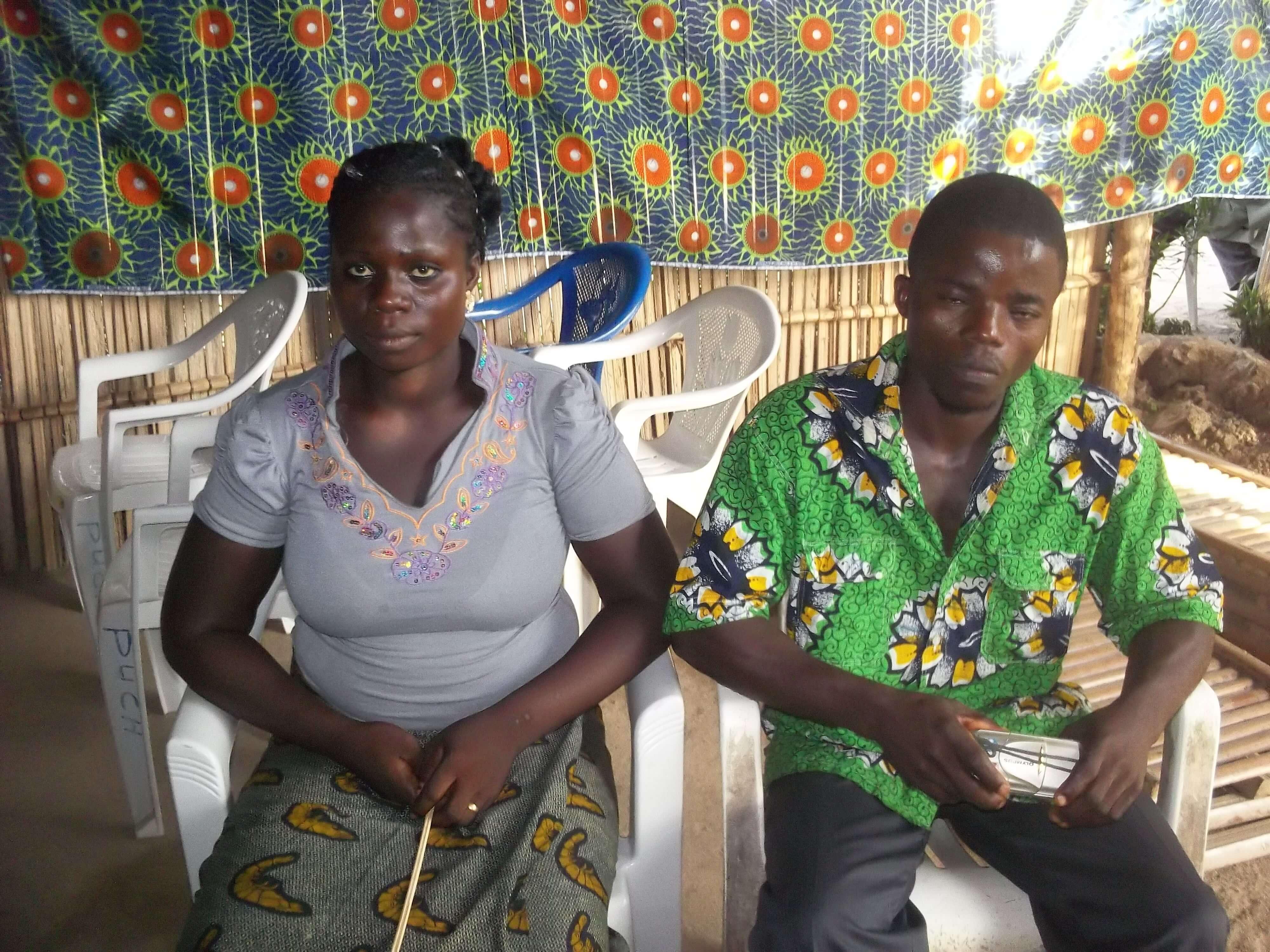 Ce couple vient nous demander la prière pour  avoir  un enfant