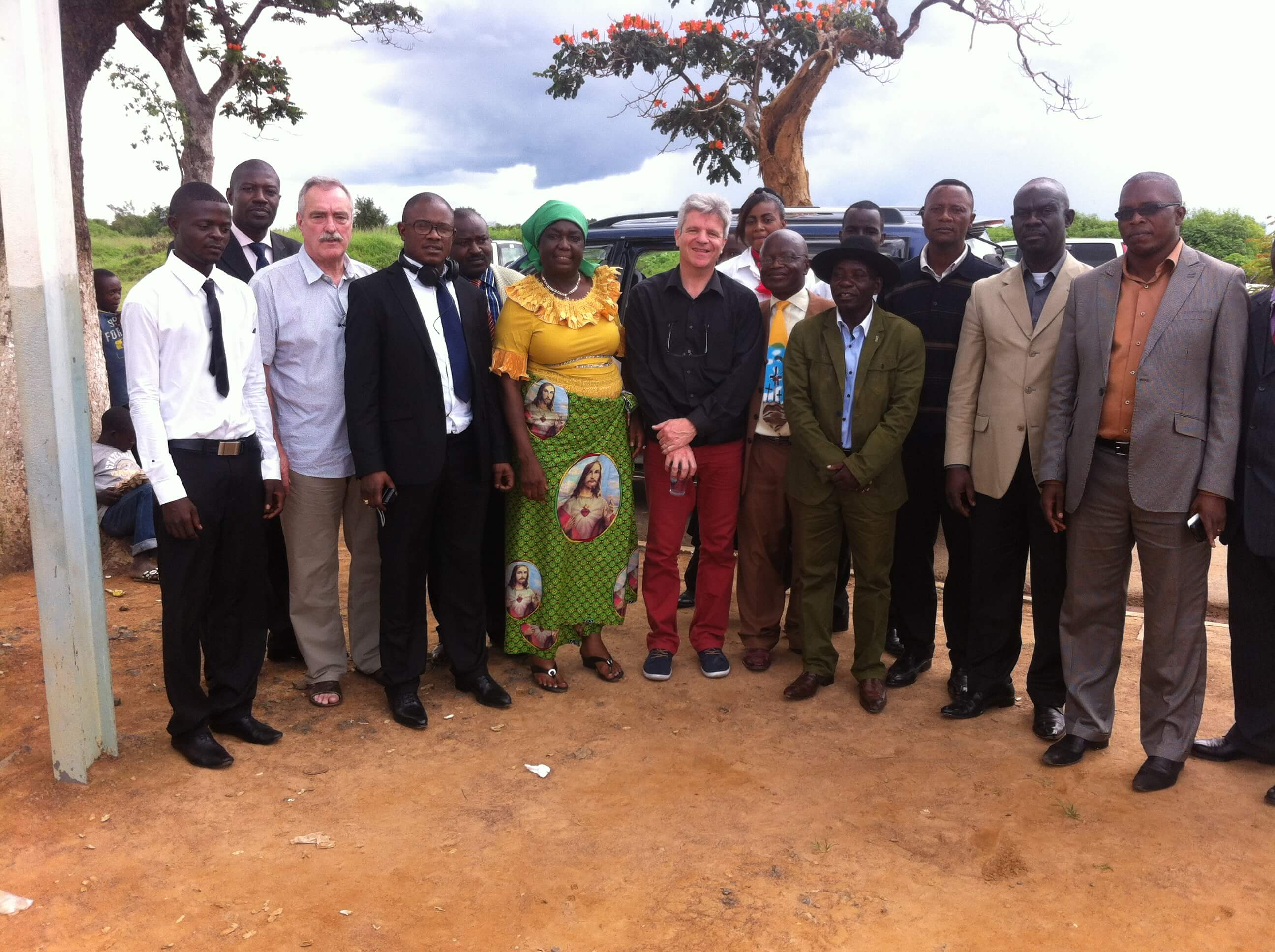 Comité d'accueil pour notre mission à Lumbumbashi