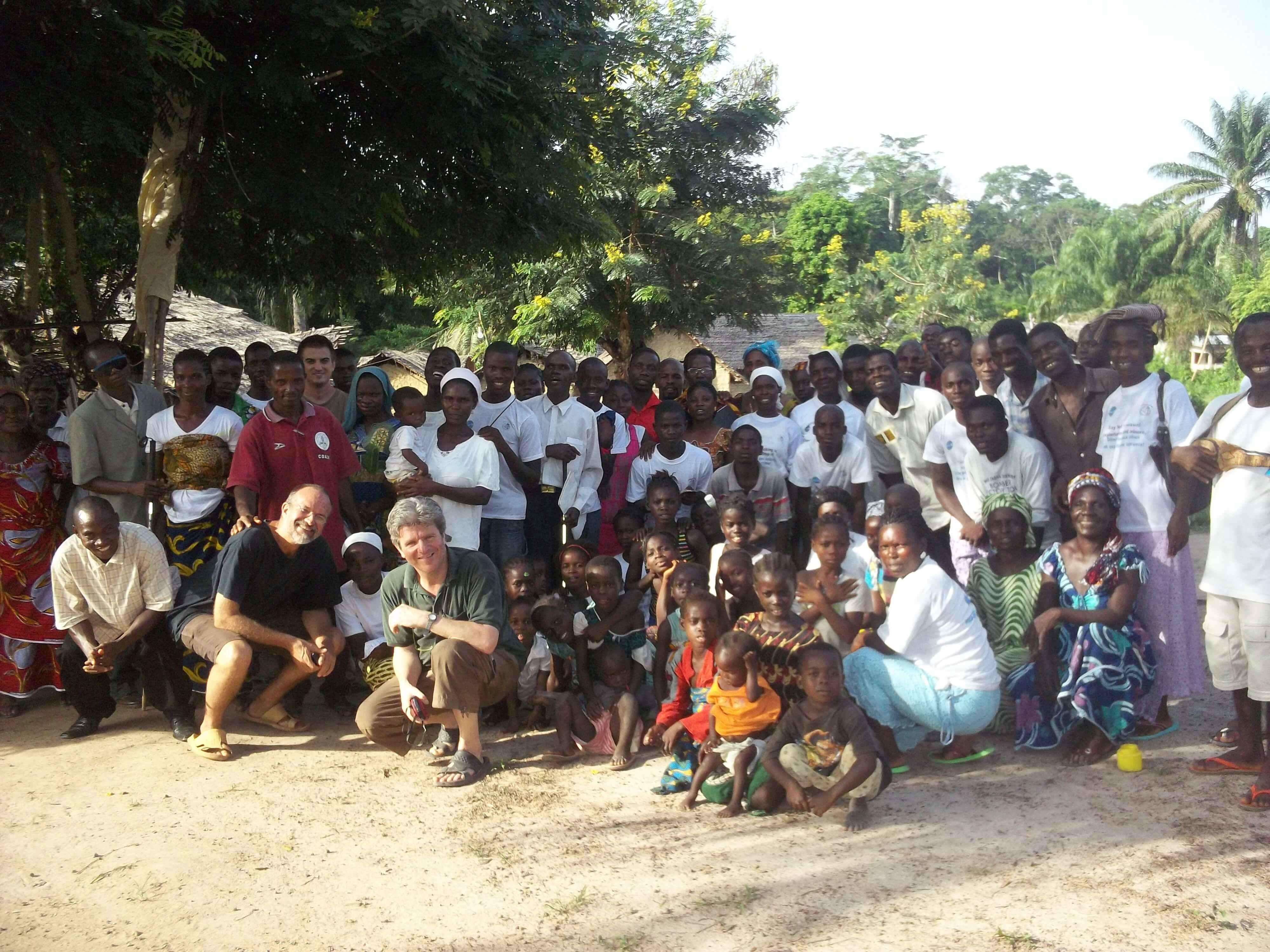 Toute une petite colonie d'ivoiriens a préféré s'installer dans un village libérien de l'autre côté