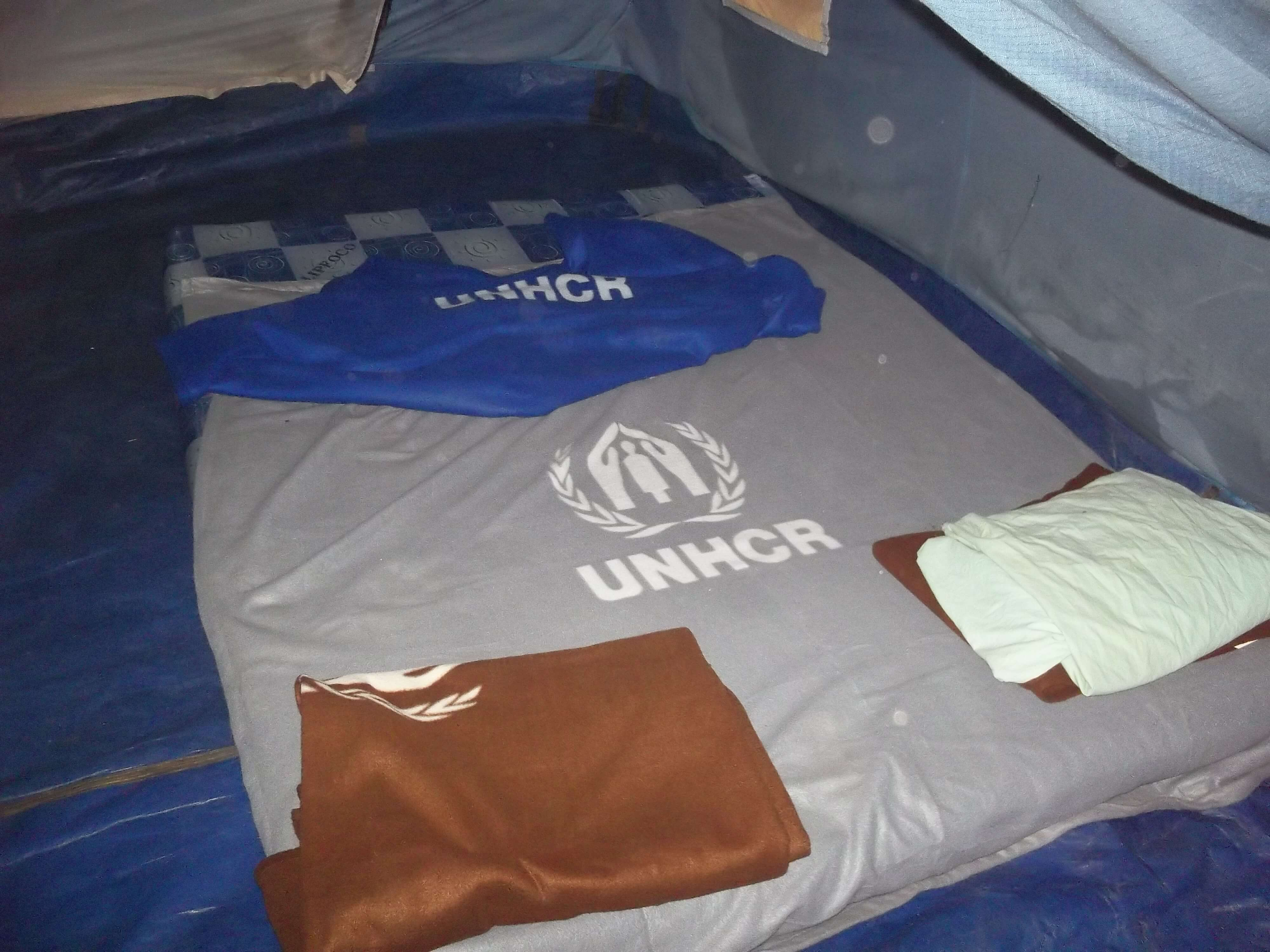 Literie fournie par le Haut Commissaire aux Réfugiés