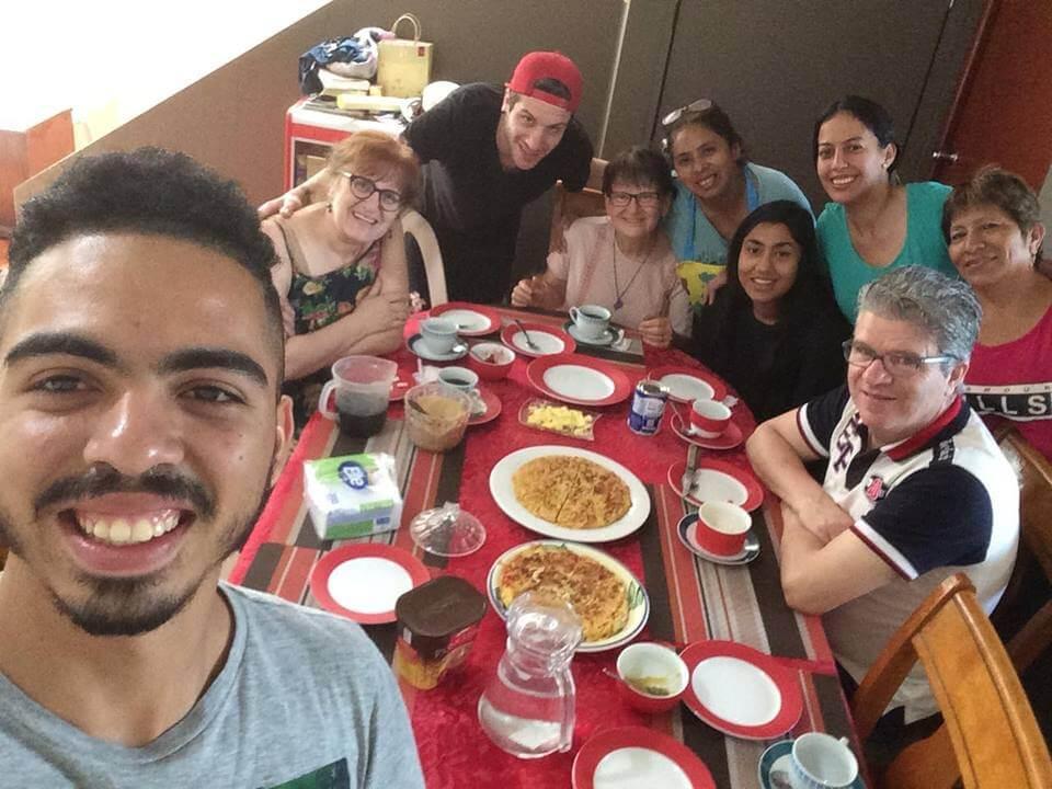 Repas avec la famille pastorale De La Cruz