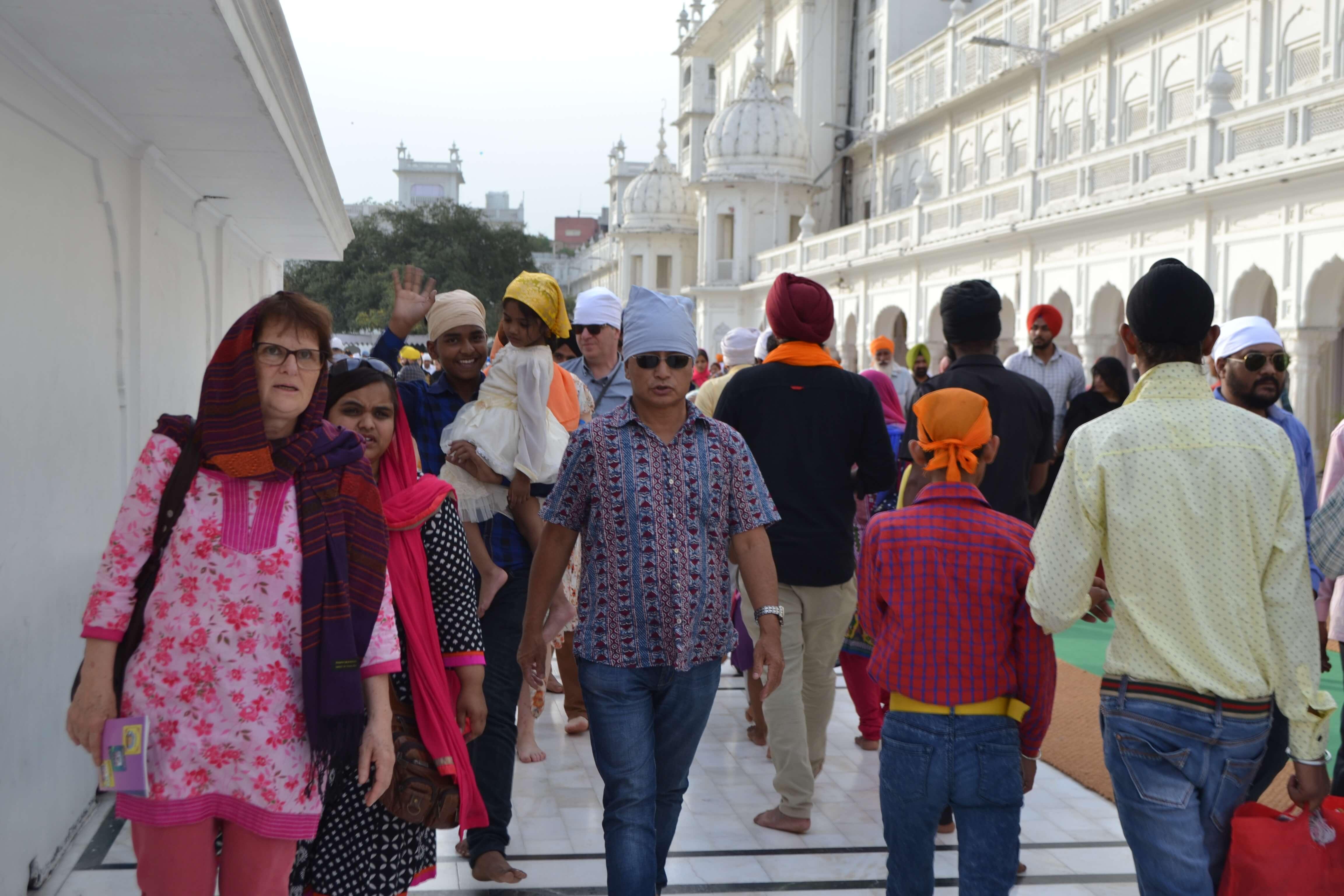 Prière au cœur du Haut-Lieu Sikh