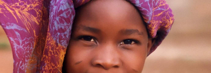 Visage d'enfant du Burkina Faso