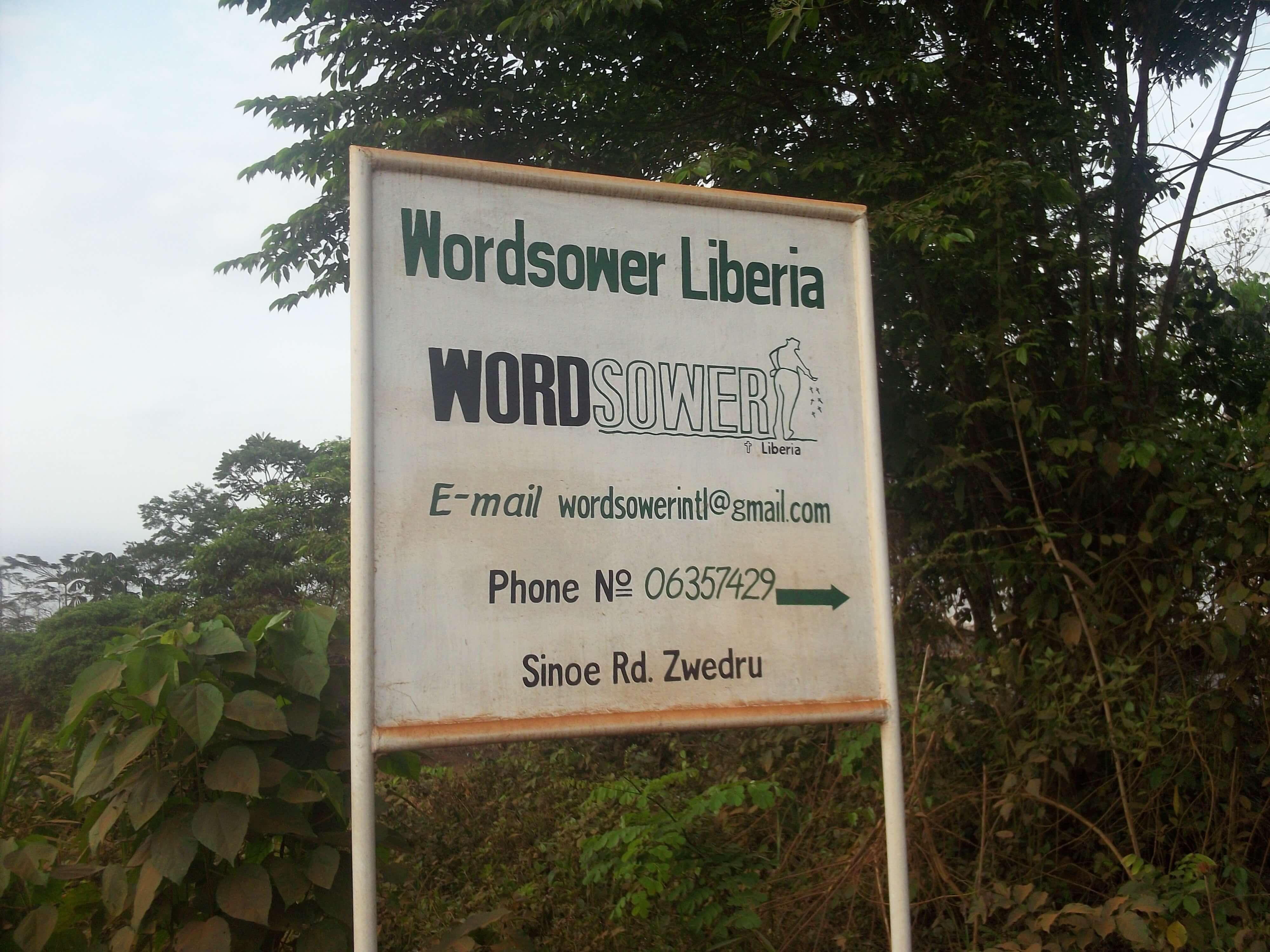 En collaboration avec la mission Wordsower dont le siège est à Zwedru