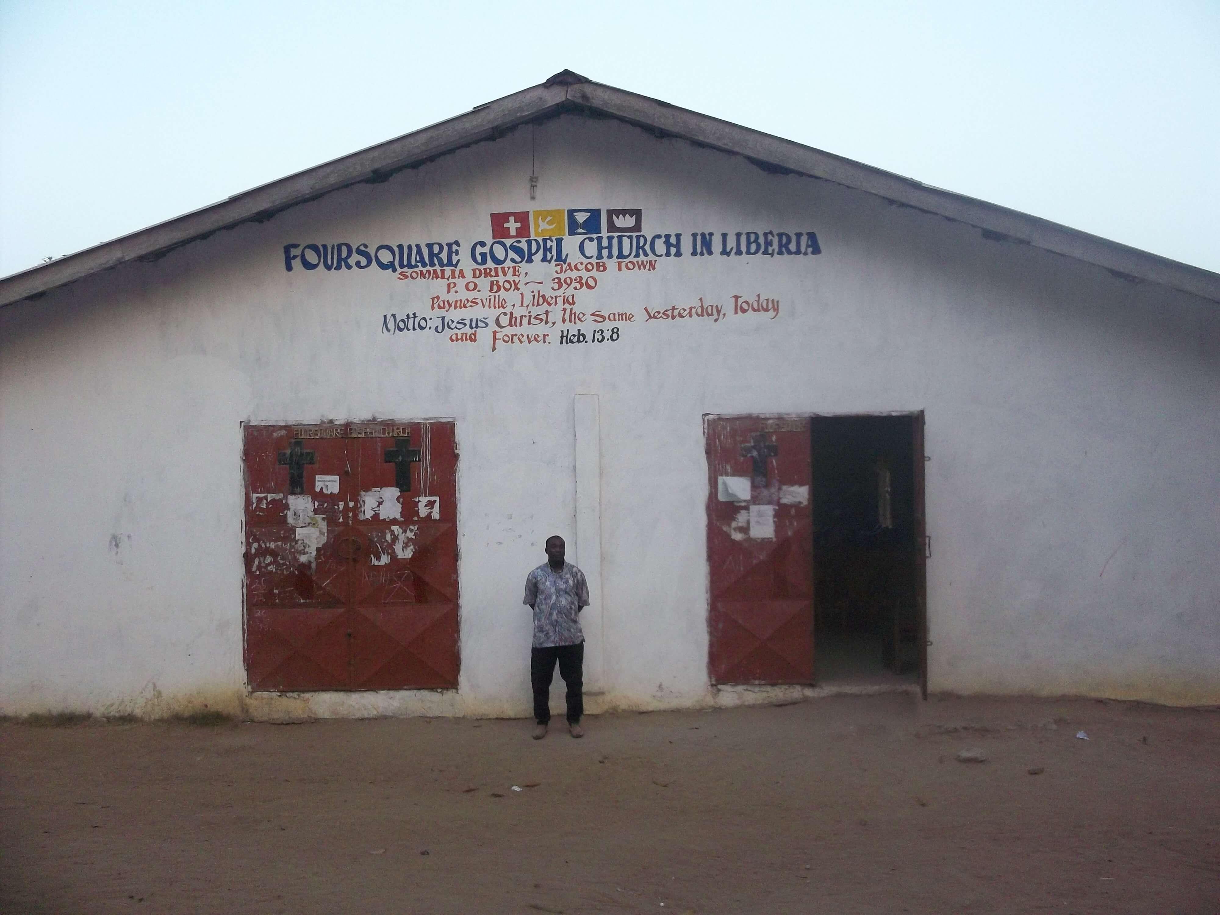 Nous sommes là pour une mission avec les Eglises Foursquare du Liberia